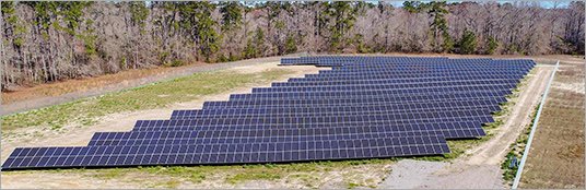 LG powers utility scale solar North Carolina