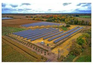 Minnesota solar field United Renewable